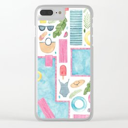 By The Pool Clear iPhone Case