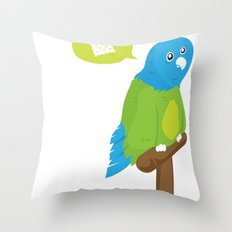 Depressed Parrot Throw Pillow