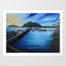 Cowichan Bay Art Print