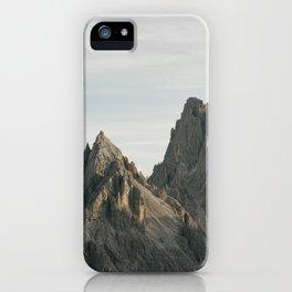 Mountain peaks - Cadini Group | Dolomites, Italy photography | pastel art print iPhone Case