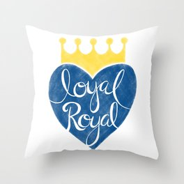 Kansas City Loyal Royal Throw Pillow