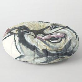 Pig with Glasses, Cute Farm Art Floor Pillow