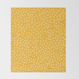 YELLOW DOTS Throw Blanket