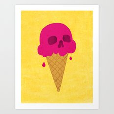 Skull Scoop. Art Print