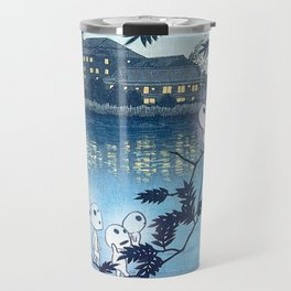 Kodama, Forest spirits vintage japanese woodblock mashup Travel Mug