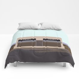 Marfa Installation: A digital illustration Comforters