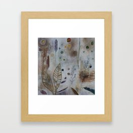 Luna Leaf Framed Art Print