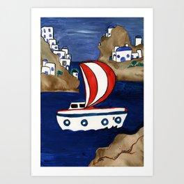 Journey to Greece Art Print