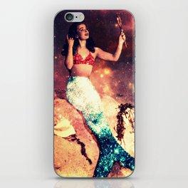 Vintage Mermaid Sparkle iPhone Skin
