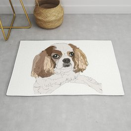 Blenheim cavalier king charles spaniel dog Rug