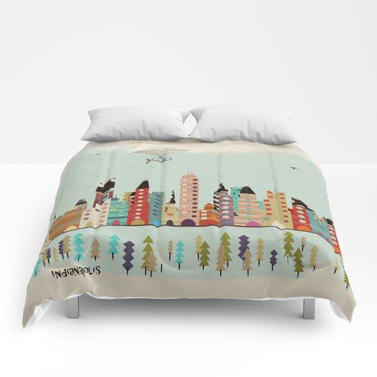 visit Indianapolis Indiana Comforters