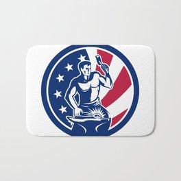 American Farrier USA Flag Icon Bath Mat