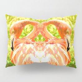 Flamingo illustration versus illustrated flamingo Pillow Sham