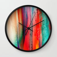 ice Wall Clocks featuring Ice Curtain by Klara Acel