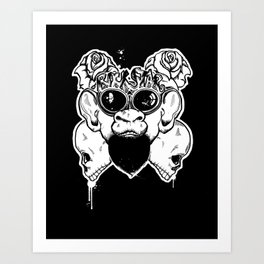 Rock Out Monkey Boy Art Print