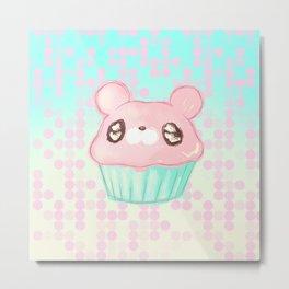 Cupcake Bear Metal Print