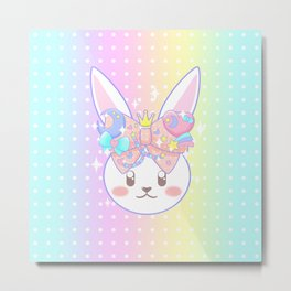 Fairy Kei Decora Bunny Metal Print