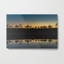 Sunset Sky. || Reflection. || Orange Sky. || Sunrise. || Europe. || Lake. || Landscape. || Travel Metal Print