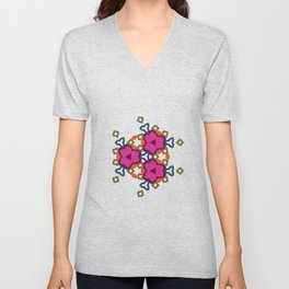 Flower-Caleidoscope Unisex V-Neck