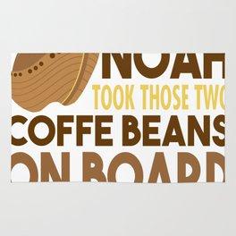 Good Thing Noah Took Those Two Coffee Rug