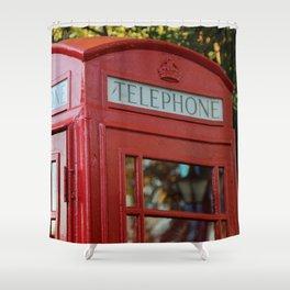 British Telephone Kiosk Shower Curtain