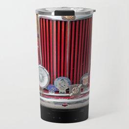 Red MG TD Sports Car Travel Mug
