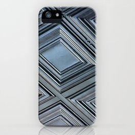 Silver Gray shades Zig Zags iPhone Case