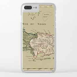 Map Of Hispaniola 1767 Clear iPhone Case