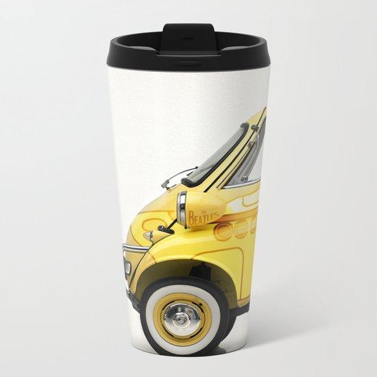 Yellow Submaretta Metal Travel Mug
