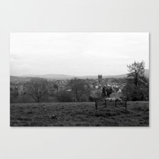 Bench over the Town Canvas Print
