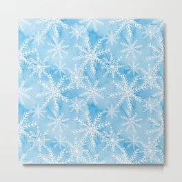 Blue Snowflakes #2 Metal Print