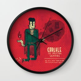 Carlyle, The Christmas Vampire Wall Clock