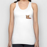 meow Tank Tops featuring Meow by Noreen Loke