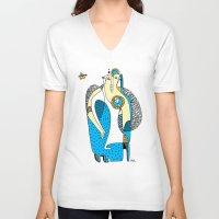 family V-neck T-shirts featuring Family by Zinaida Kazantseva