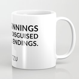 Lao Tzu quotes - New beginnings are often disguised as painful endings. Coffee Mug