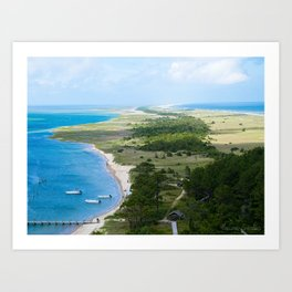 Looking out over the Cape Art Print