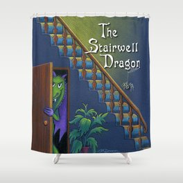 The Stairwell Dragon Shower Curtain