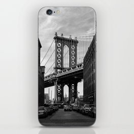 Manhattan Bridge view from Dumbo iPhone Skin