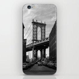 Manhattan Bridge view from Dumbo iPhone Skin