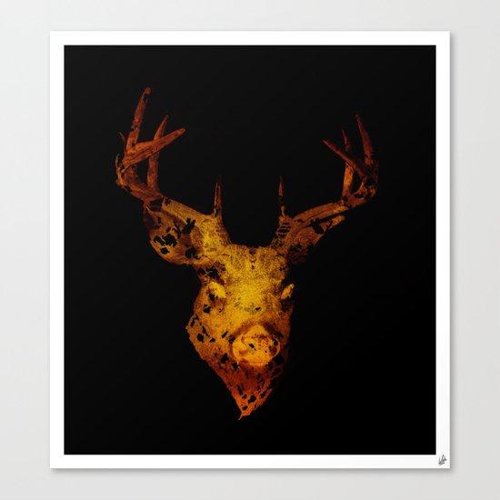 Cervus (Gold Negative Version) Canvas Print