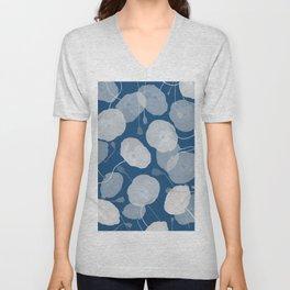 Monochromatic Poppies Unisex V-Neck