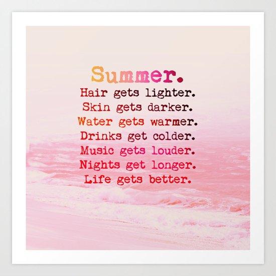 SUMMER IN PINK Art Print