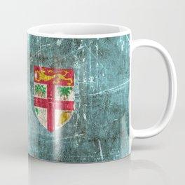 Vintage Aged and Scratched Fiji Flag Coffee Mug