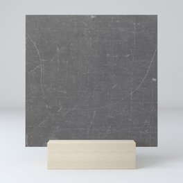 Gray and White School BlackBoard Mini Art Print