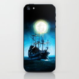 The Flying Dutchman Under The Moon - Painting Style iPhone Skin