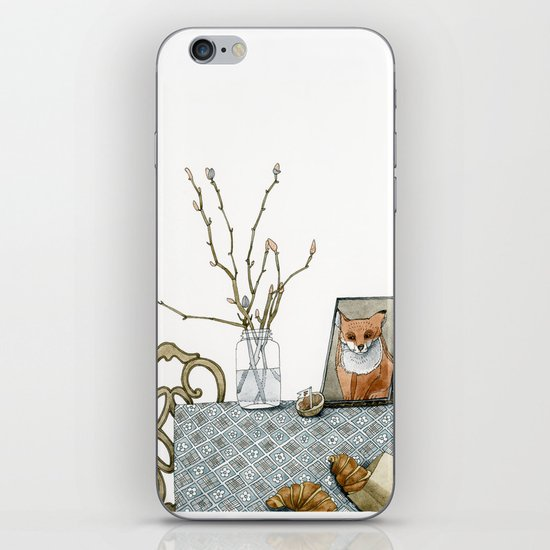 coffee and croissants iPhone & iPod Skin