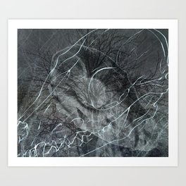 Foxes/abstract Art Print