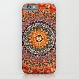 Indian Summer I - Colorful Boho Feather Mandala iPhone Case