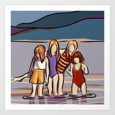Cousins and the Lake Art Print