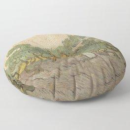 Women Picking Olives Floor Pillow